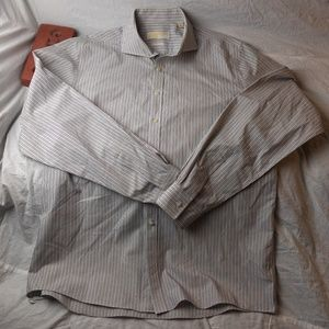 MICHAEL KORS Striped Non Iron Button Front Casual